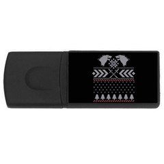 Winter Is Coming Game Of Thrones Ugly Christmas Black Background USB Flash Drive Rectangular (4 GB)