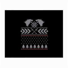 Winter Is Coming Game Of Thrones Ugly Christmas Black Background Small Glasses Cloth (2-Side)
