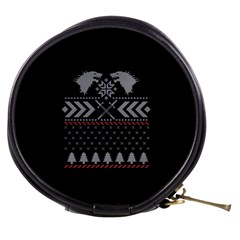 Winter Is Coming Game Of Thrones Ugly Christmas Black Background Mini Makeup Bags