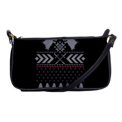 Winter Is Coming Game Of Thrones Ugly Christmas Black Background Shoulder Clutch Bags
