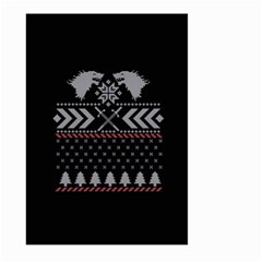 Winter Is Coming Game Of Thrones Ugly Christmas Black Background Large Garden Flag (two Sides)