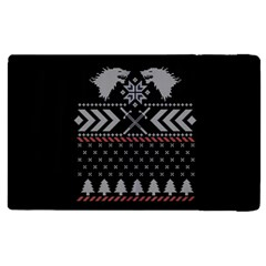 Winter Is Coming Game Of Thrones Ugly Christmas Black Background Apple Ipad 2 Flip Case