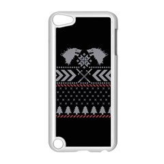 Winter Is Coming Game Of Thrones Ugly Christmas Black Background Apple Ipod Touch 5 Case (white)