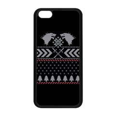 Winter Is Coming Game Of Thrones Ugly Christmas Black Background Apple iPhone 5C Seamless Case (Black)