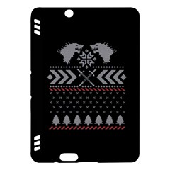 Winter Is Coming Game Of Thrones Ugly Christmas Black Background Kindle Fire HDX Hardshell Case