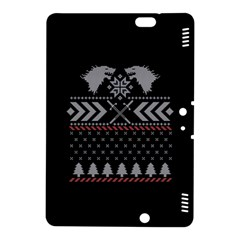Winter Is Coming Game Of Thrones Ugly Christmas Black Background Kindle Fire HDX 8.9  Hardshell Case