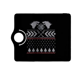 Winter Is Coming Game Of Thrones Ugly Christmas Black Background Kindle Fire HDX 8.9  Flip 360 Case
