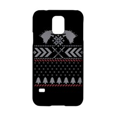 Winter Is Coming Game Of Thrones Ugly Christmas Black Background Samsung Galaxy S5 Hardshell Case