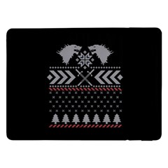 Winter Is Coming Game Of Thrones Ugly Christmas Black Background Samsung Galaxy Tab Pro 12 2  Flip Case