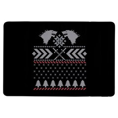 Winter Is Coming Game Of Thrones Ugly Christmas Black Background Ipad Air Flip
