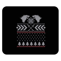 Winter Is Coming Game Of Thrones Ugly Christmas Black Background Double Sided Flano Blanket (small)