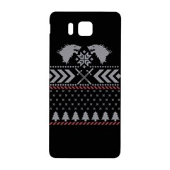 Winter Is Coming Game Of Thrones Ugly Christmas Black Background Samsung Galaxy Alpha Hardshell Back Case