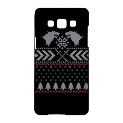 Winter Is Coming Game Of Thrones Ugly Christmas Black Background Samsung Galaxy A5 Hardshell Case