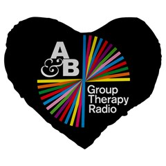 Above & Beyond  Group Therapy Radio Large 19  Premium Heart Shape Cushions