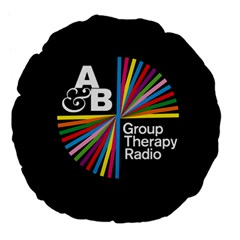 Above & Beyond  Group Therapy Radio Large 18  Premium Flano Round Cushions