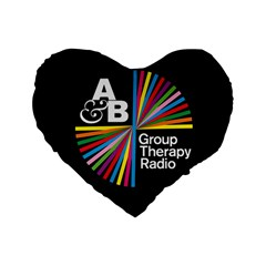 Above & Beyond  Group Therapy Radio Standard 16  Premium Flano Heart Shape Cushions
