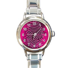 Above & Beyond Sticky Fingers Round Italian Charm Watch