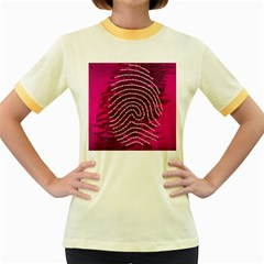 Above & Beyond Sticky Fingers Women s Fitted Ringer T-Shirts