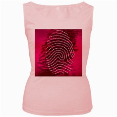 Above & Beyond Sticky Fingers Women s Pink Tank Top