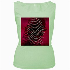 Above & Beyond Sticky Fingers Women s Green Tank Top