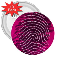 Above & Beyond Sticky Fingers 3  Buttons (10 pack)