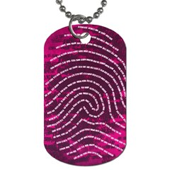 Above & Beyond Sticky Fingers Dog Tag (One Side)