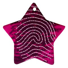 Above & Beyond Sticky Fingers Star Ornament (Two Sides)