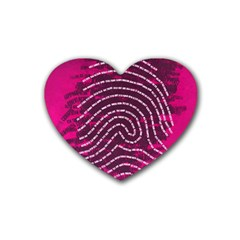 Above & Beyond Sticky Fingers Rubber Coaster (Heart)