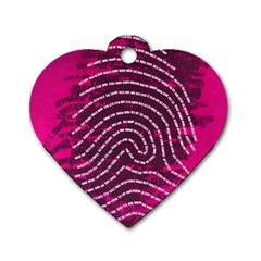 Above & Beyond Sticky Fingers Dog Tag Heart (One Side)