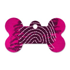 Above & Beyond Sticky Fingers Dog Tag Bone (Two Sides)
