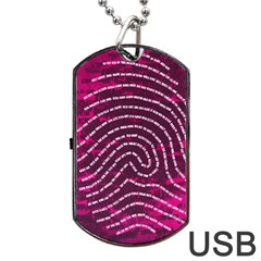 Above & Beyond Sticky Fingers Dog Tag USB Flash (One Side)