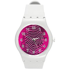 Above & Beyond Sticky Fingers Round Plastic Sport Watch (M)