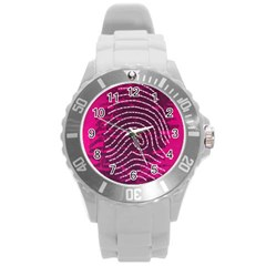 Above & Beyond Sticky Fingers Round Plastic Sport Watch (L)