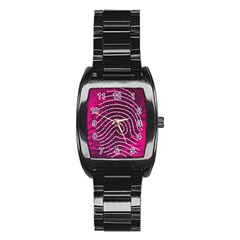 Above & Beyond Sticky Fingers Stainless Steel Barrel Watch