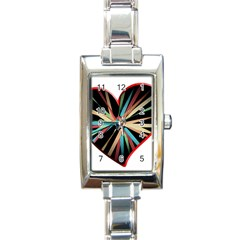 Above & Beyond Rectangle Italian Charm Watch