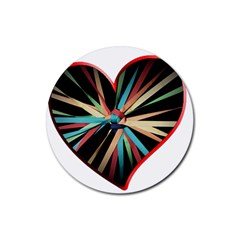 Above & Beyond Rubber Round Coaster (4 pack)