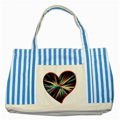Above & Beyond Striped Blue Tote Bag