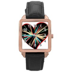 Above & Beyond Rose Gold Leather Watch
