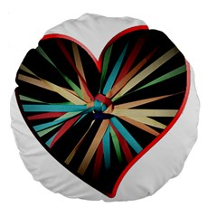 Above & Beyond Large 18  Premium Flano Round Cushions