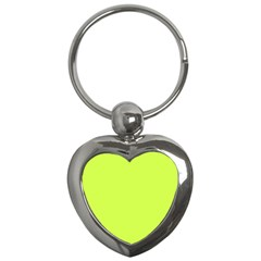 Neon Color - Light Brilliant Lime Green Key Chains (Heart)