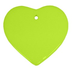 Neon Color - Light Brilliant Lime Green Heart Ornament (Two Sides)