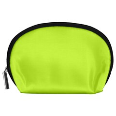 Neon Color - Light Brilliant Lime Green Accessory Pouches (Large)