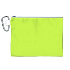 Neon Color - Light Brilliant Lime Green Canvas Cosmetic Bag (XL)