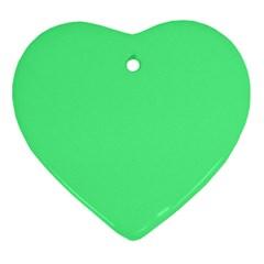 Neon Color - Light Brilliant Malachite Green Ornament (Heart)