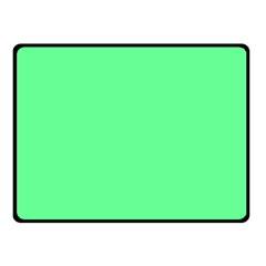 Neon Color - Light Brilliant Malachite Green Fleece Blanket (Small)
