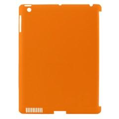 Neon Color - Light Brilliant Orange Apple iPad 3/4 Hardshell Case (Compatible with Smart Cover)