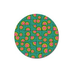 Tiled Circular Gradients Magnet 3  (Round)