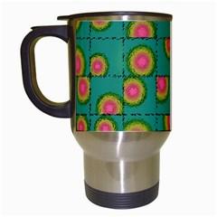 Tiled Circular Gradients Travel Mugs (White)