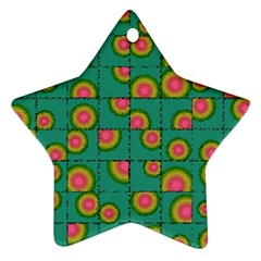Tiled Circular Gradients Star Ornament (Two Sides)