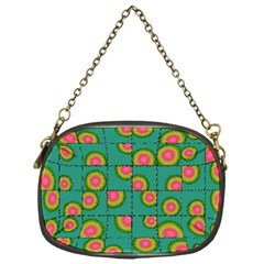 Tiled Circular Gradients Chain Purses (One Side)